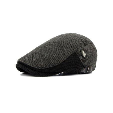 b05dbbaa31e37 Men Winter Warm Newsboy Gatsby Cap Ivy Hat Golf Driving Flat Cabbie Beret  Hat - Walmart.com
