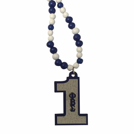 Phi Beta Sigma #1 Color Bead Tiki Number Necklace - Tiki Necklace