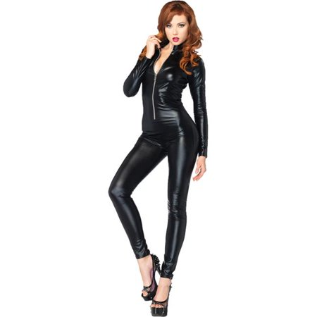 Morris Costumes UA85047LG Catsuit Wet Look Zipper Front Costume, Large (Zippers Toronto Halloween)