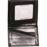 Black Leather Bi-Fold Wallet Designer Jewelry by Sweet Pea