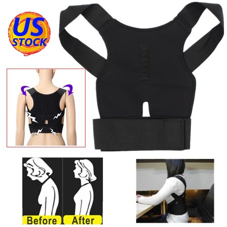 Comfortable Posture Corrector Brace Straightens Lower Back Fit with Shoulder Support Back Brace For Lifting with Waist Belt For Men Women Teenager - Lifting Back Support