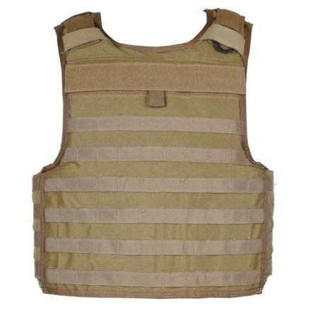 STRIKE Tactical Armor Carrier Vest, Non-Cutaway, Coyote Tan, Extra (Tactical Vest Carriers)