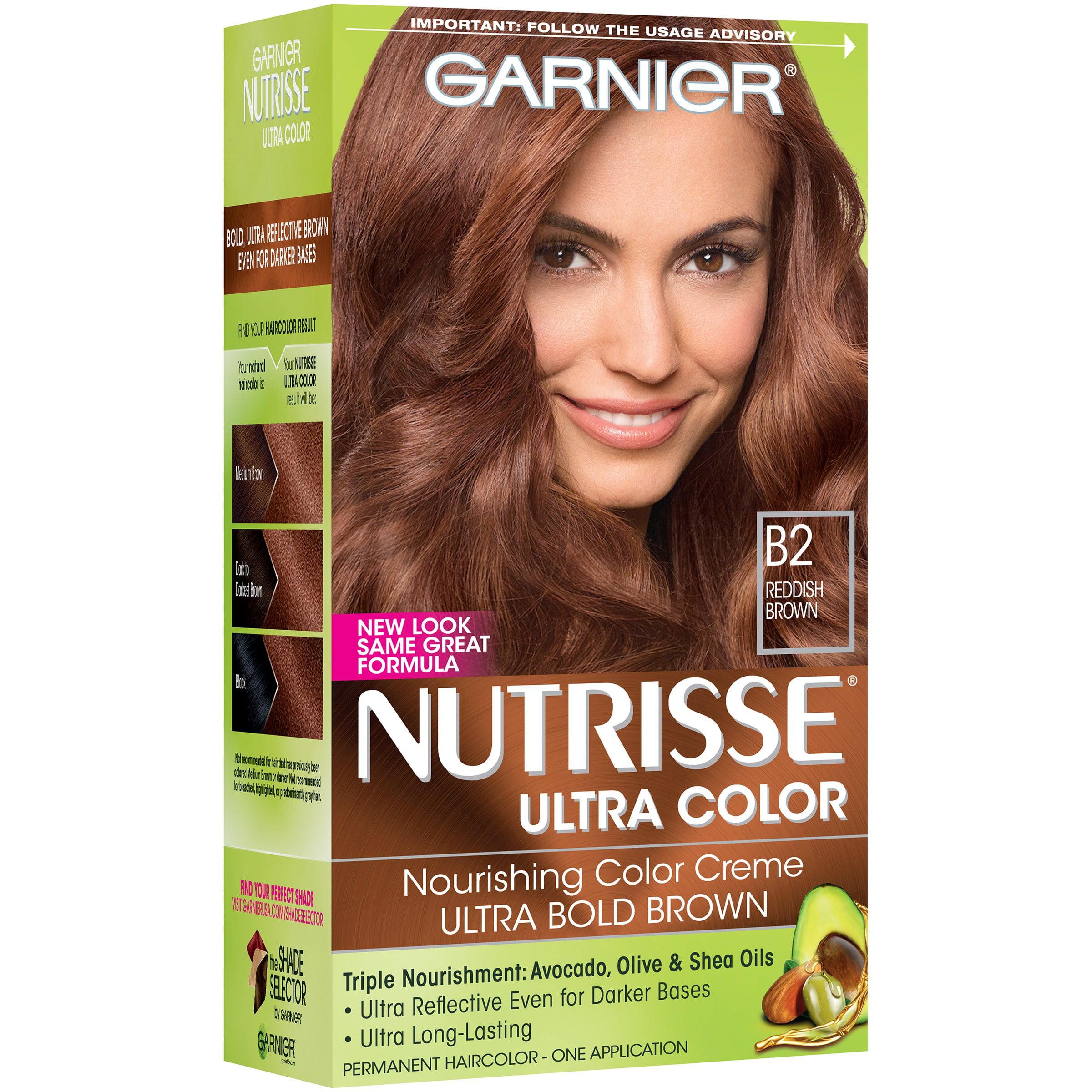 Garnier Nutrisse Ultra Color Nourishing Color Creme, B2 Reddish Brown