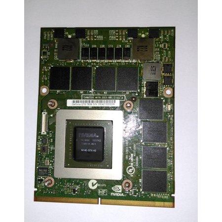 Gddr5 Video Graphics (Nvidia GeForce GTX 780M 4GB GDDR5 GPU N14E-GTX-A2 VGA Original Kepler GPU Video Graphics FJHX2 MSI Clevo Dell Alienware 17 18 M17x M18x MS-1W0C1 )