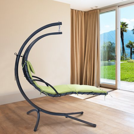 Finether Hanging Chaise Lounge Chair Outdoor Indoor