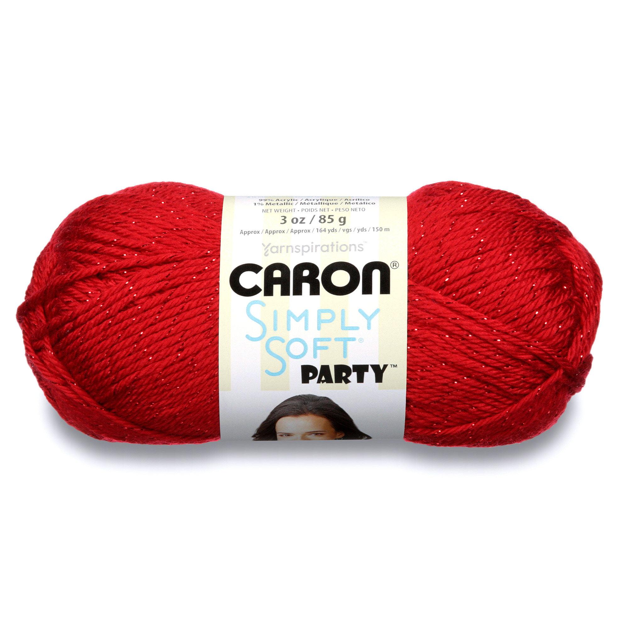 Caron Simply Soft Party Yarn Royal Sparkle Walmart