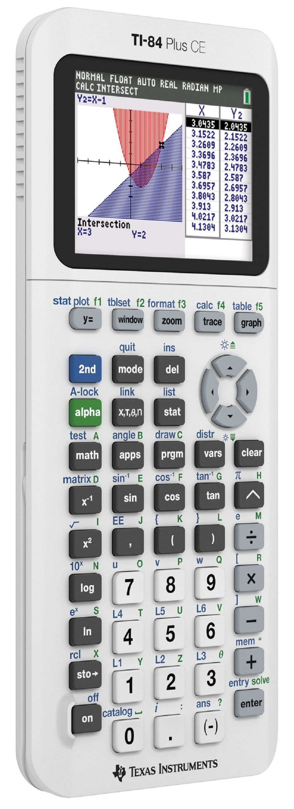 Texas Instruments Ti 84 Plus Ce Graphing Calculator White Walmart