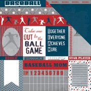 "All Star Baseball Double-Sided Cardstock 12""X12""-Cut-Outs"