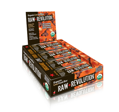 Raw Revolution Bar - Organic Heavenly Hazelnut Chocolate - Case of 12 - 1.8 oz