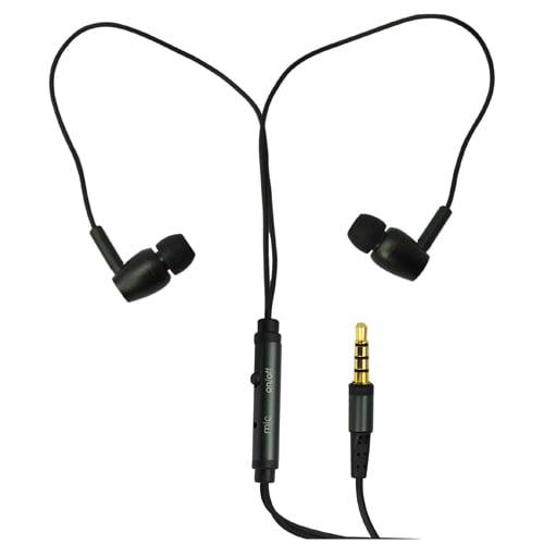 RND Noise Reducing In-Ear Earbuds / Headphones with built-in microphone [black)
