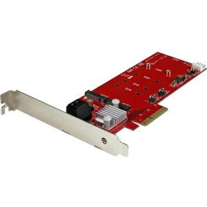 StarTech.com 2x M.2 NGFF SSD RAID Controller Card plus 2x SATA III Ports - PCIe - Two Slot PCI Express M.2 RAID Card plus Two SATA Ports - Serial ATA/600 - PCI Express 2.0 x4 - Plug-in Card - (Angelbird Wings Px1 Pcie X4 M 2 Adapter)