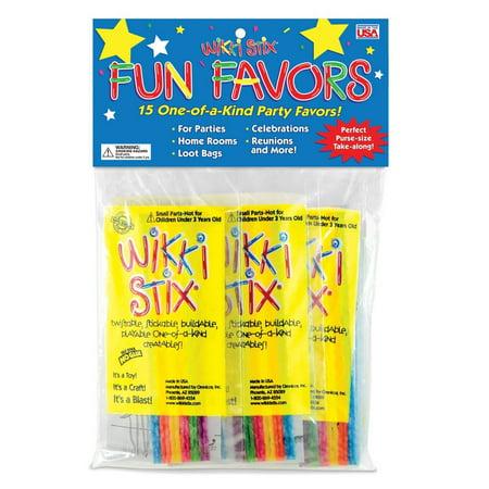 Wikki Stix Party Favor Pak, Pack of 15 Molding & Sculpting Sticks, 15 individual Mini Play Paks By Wikki Stix Arts Crafts