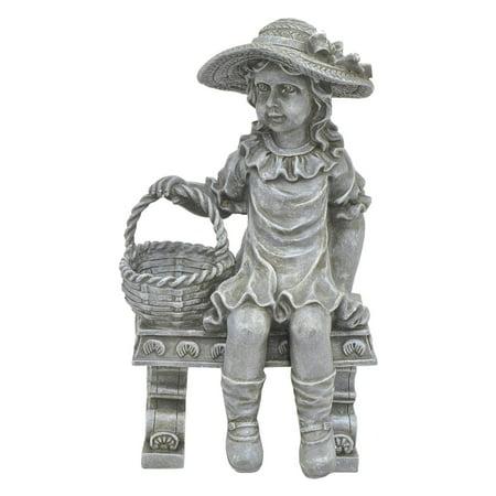 Three Hands Girl on a Bench Garden - Power Girl Statue