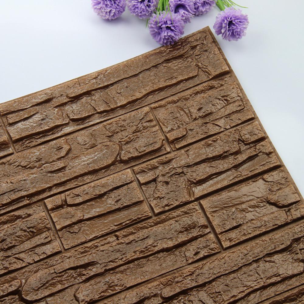 DIY 3D Brick PE Foam Wallpaper Panels Room Decal Stone Decoration Embossed