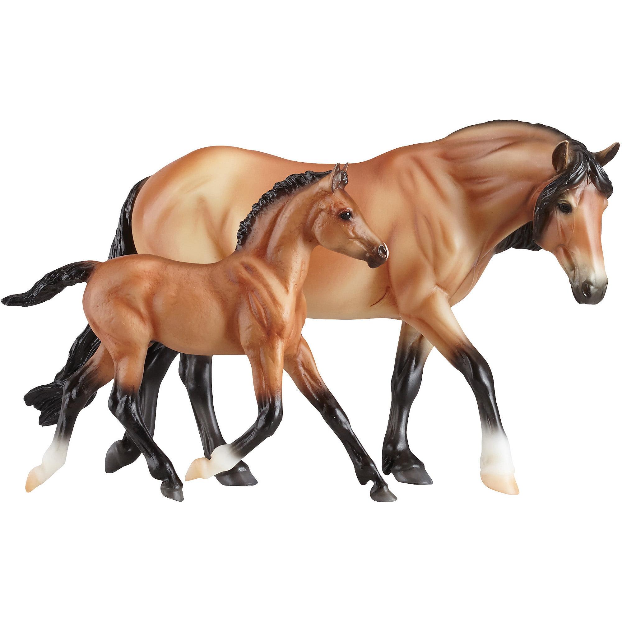 Breyer Classics Bay Dartmoor Pony Mare & Light Bay Foal Horses