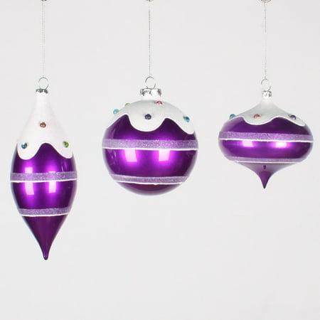 Asstd Jewel (4-7'' Candy Purple Jewel Asst Orn 3/Box)