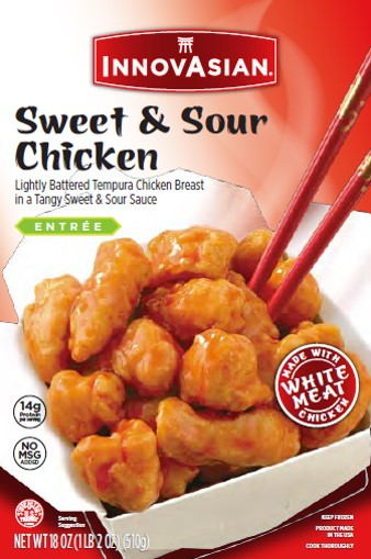 Innovasian Sweet Sour Chicken Frozen Asian Entree 18 Oz Walmart Com Walmart Com