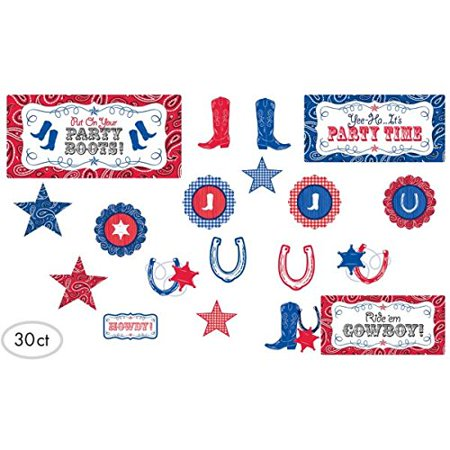 """Assorted Western Cutout Party Decoration, Paper, 11"""", Mega Value Pack of 30 - image 2 of 3"""