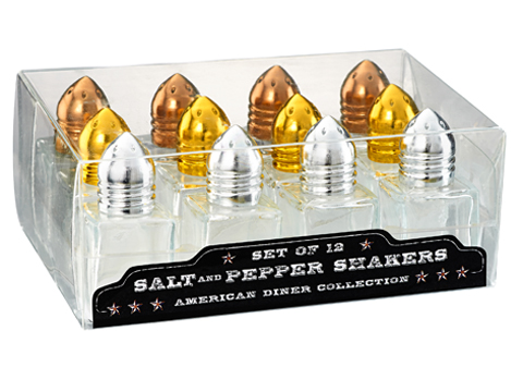 Click here to buy Artland American Diner Salt and Pepper Shakers (Set of 12) by Artland.