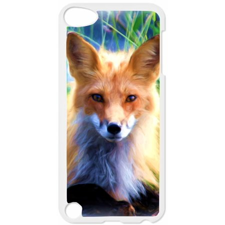 Baby Fox Hard White Plastic Case Compatible with the Apple iPod Touch 5th Generation - iTouch 5 Universal (Itouch 5th Generation)