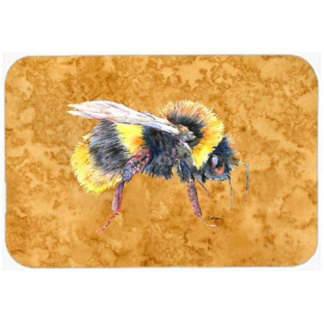 Carolines Treasures 8850CMT 20 x 30 in. Bee on Gold Kitchen Or Bath Mat - image 1 of 1