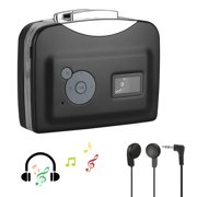 Portable Cassette Player, EEEkit Cassette Player Walkman Cassette Tape Player Tape Converter to MP3 via USB, Audio Music Tape to MP3 Converter Player with Earphone, 3.5mm Audio Jack, USB Cable