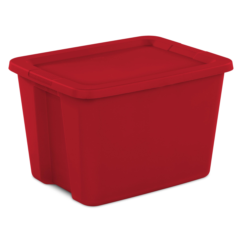 Sterilite 18 Gal. Tote Box Infra Red