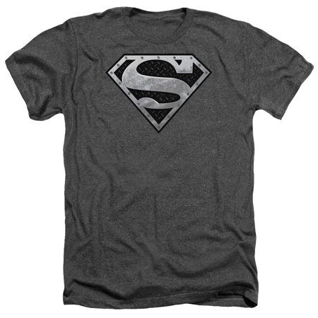 Superman Super Metallic Shield Officially Licensed Heather Adult T Shirt](Super Man Shirt)
