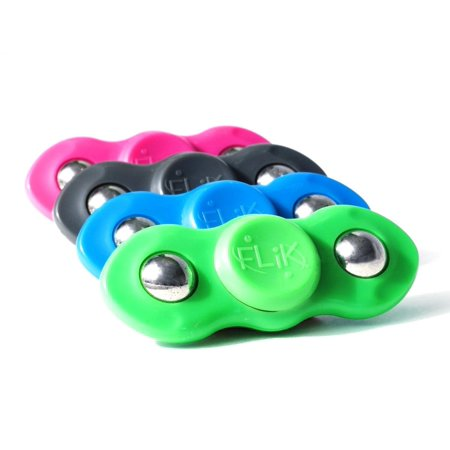 4 PACK Flik Hand Spinners Helps Focusing Fidget Focus Toy for Kids & Adults - Best Stress Reducer Relieves ADHD Anxiety Boredom Fidget