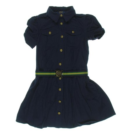 08e59b03e3 Polo Ralph Lauren - Polo Ralph Lauren Girls Belted Denim Shirtdress -  Walmart.com