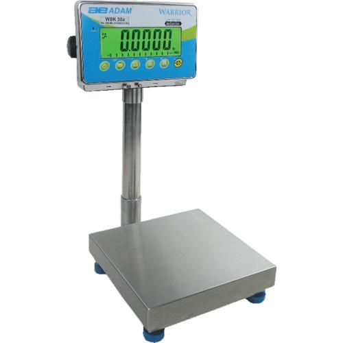 "Adam Equipment WFK 330a Warrior Wash Down Scale, 330lb/150kg Capacity, 0.02lb/10g Readability, 15.7"""