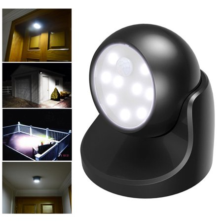 Motion Activated Cordless Sensor LED Light Indoor Outdoor Garden Wall Patio Shed ()