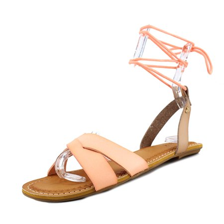 Roxy Telaviv Women  Open-Toe Synthetic Orange Slingback Sandal