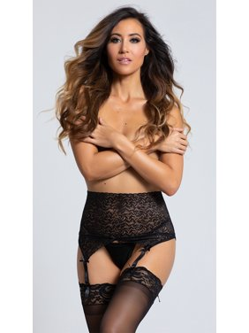 573a1a00d18 Product Image Black Lace High Waisted Garter Belt