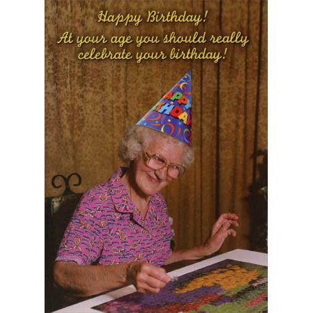 Oatmeal Studios Doing a Jigsaw Puzzle Funny Birthday Card