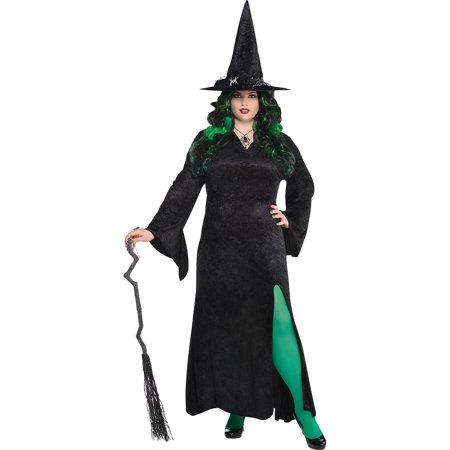 Scary Dresses For Halloween (Black Basic Witch Dress Halloween Costume for Women, Plus)