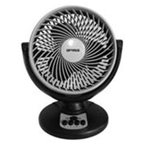"Optimus 8"" Oscillating Turbo High Performance Air Circulator - 203.2 Mm Diameter - 3 Speed - Oscillating, Adjustable Tilt Head, Carrying Handle, Wall Mountable - Black, Gray (f7098)"