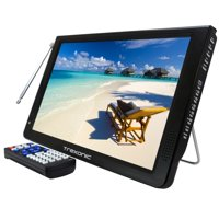 Reconditioned Trexonic Portable Ultra Lightweight Rechargeable Widescreen 12 LED TV