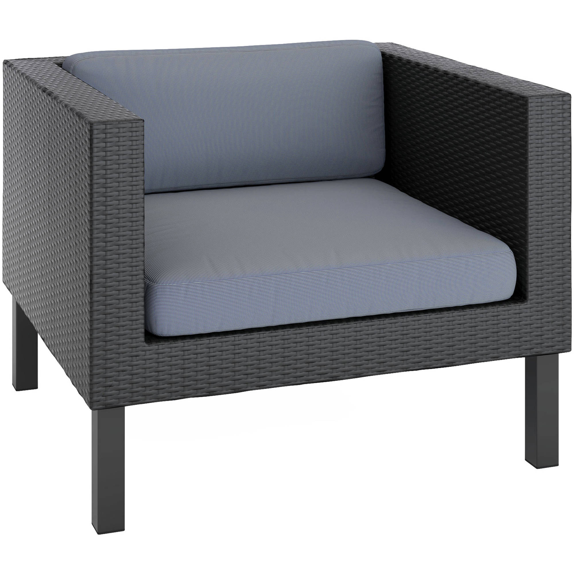 CorLiving Oakland Patio Chair, Textured Black Weave