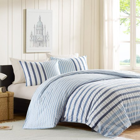INK+IVY Sutton Duvet Mini Set In Blue - (Full/Queen) (Ink And Ivy Duvet)
