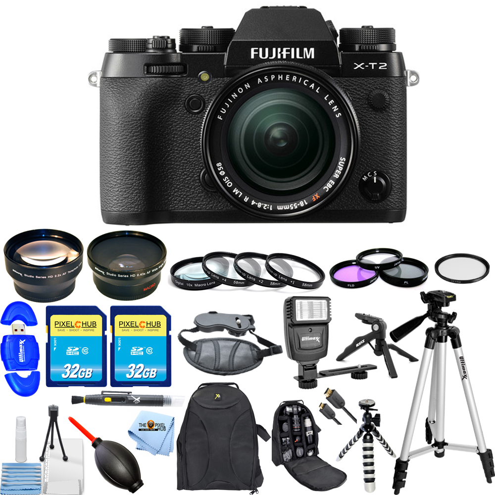FujiFilm X-T2 Mirrorless Digital Camera with 18-55mm Lens!! MEGA KIT BRAND New!! by Fujifilm