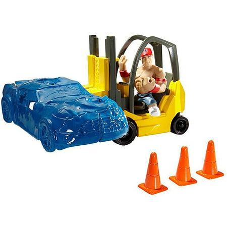 Forklift Smashdown Mini Figure Playset With John Cena WWE Wrestling