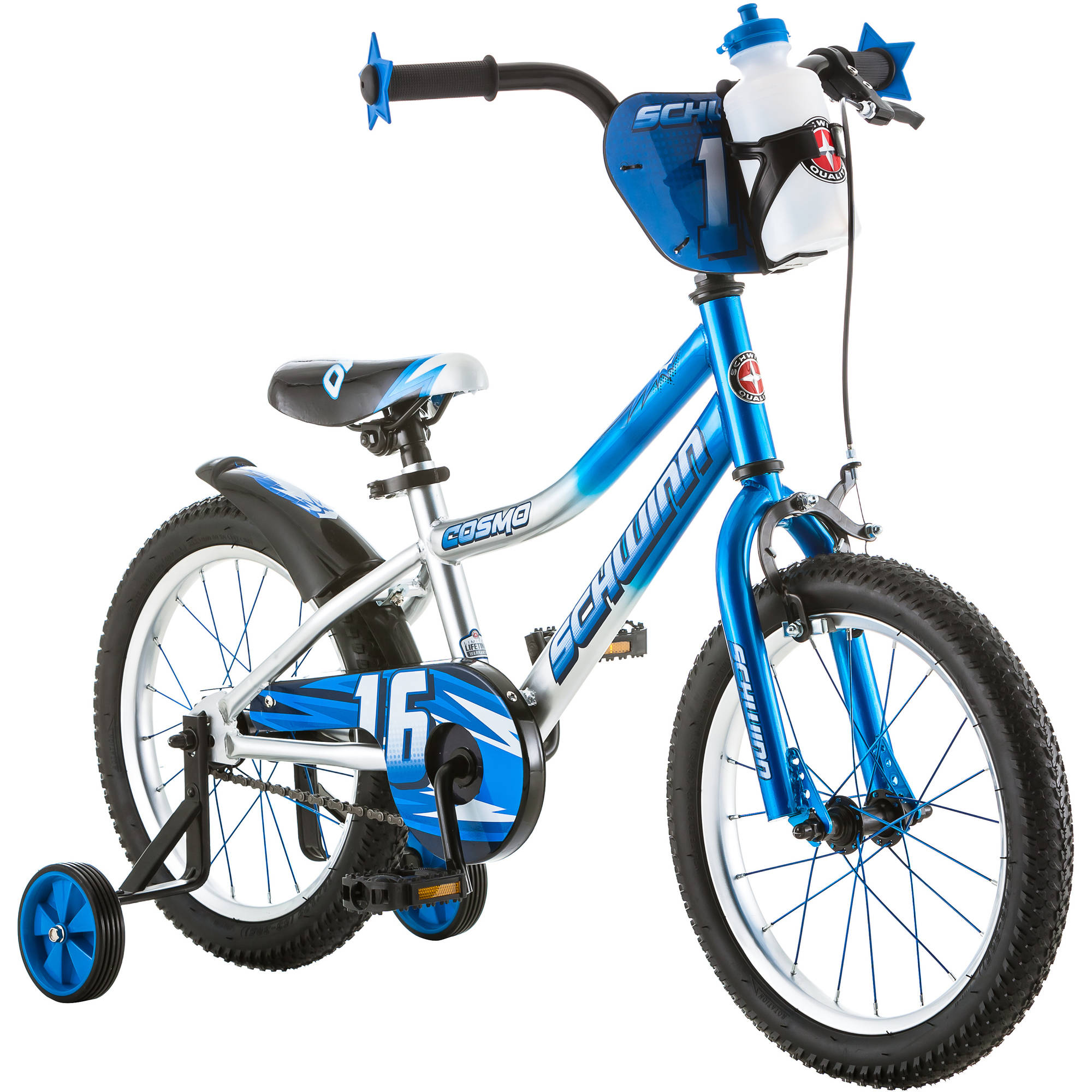 "16"" Schwinn Cosmo Boys' Bike, Blue/Gray"