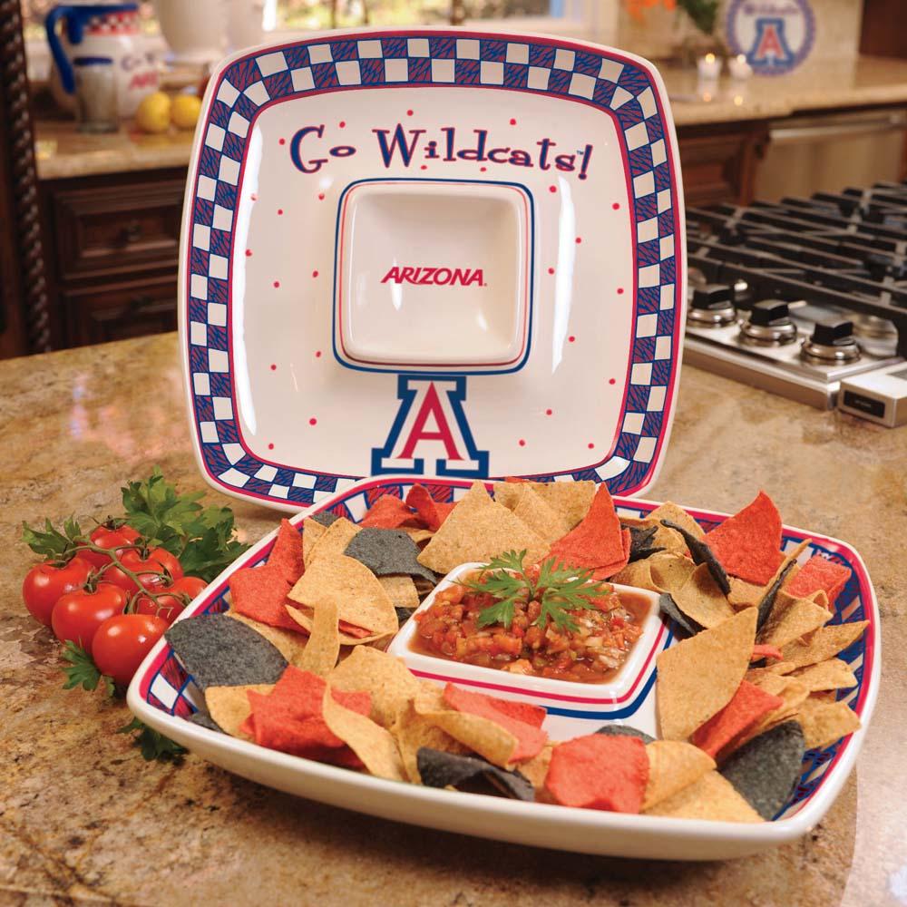 Arizona Gameday Ceramic Chip and Dip Platter