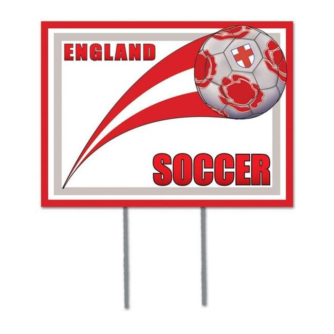 Beistle 54477-ENG Plastic Yard Sign - England - Pack of 6