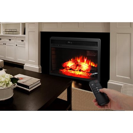 "Ktaxon Room 1500W 26"" Fireplace w/Remote Control,Electric Fireplace Heater for Home-Black"