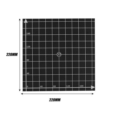 Ymiko Hot Bed Aluminum Board Coordinate Adhesive Sticker Tape 220 x 220mm 3D Printer Accessories, Sticker Paper for 3D Printer, 3D Printer Sticker Tape
