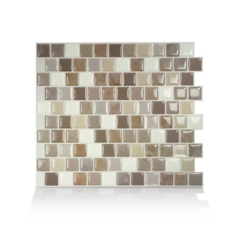 - Smart Tiles 10.20 in x 8.85 in Peel and Stick Self-Adhesive Mosaic Backsplash Wall Tile - Brixia Pardo (each)