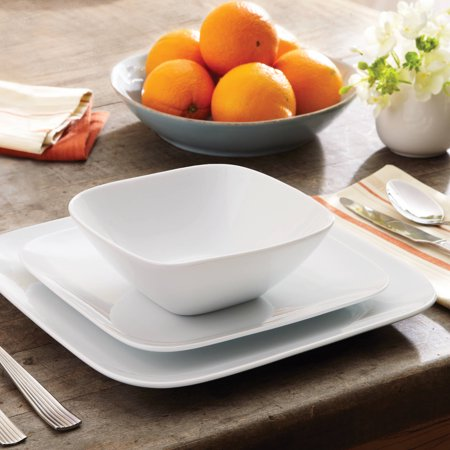 Better homes and gardens porcelain soft square 12pc - Better homes and gardens dish sets ...