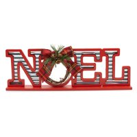 Belham Living Merry Christmas Red Decorative Sign 18.5in L x 6in H